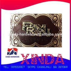 2014 design de moda, Etiqueta de couro do Metal / patch, Moda e de boa qualidade-imagem-Patches bordados-ID do produto:60119851379-portuguese.alibaba.com