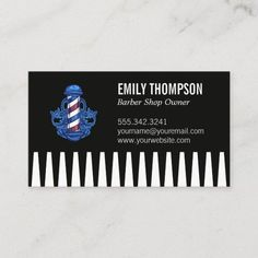 Comb | Barber Pole Business Card