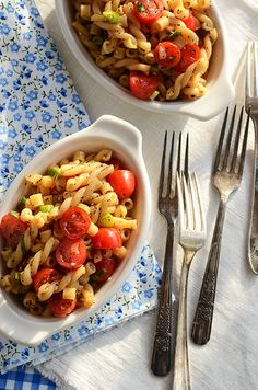 easiest pasta salad ever: Mix 3/4 lb cooked pasta with 1 batch Best Dressing, 1 cup cherry tomatoes (halved), and 3 scallions (thinly sliced).