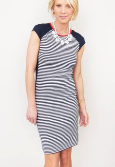KAREN KANE : Hot Mama #stripes #dress #navy #nautical