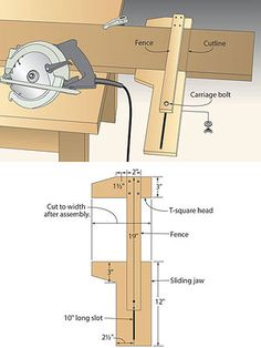 TECHNIQUES - On-the-Mark Circ-Saw Jig.