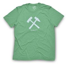 """The QALO """"Hammer Tee"""" is made from a 50/50 cotton/polyester blend to provide the comfort and flex necessary to take on life's greatest adventures."""
