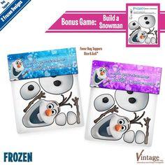 Disney Frozen Build a Snowman treats | Frozen Treat Bag Topper Free