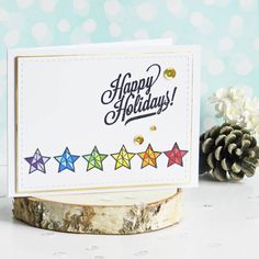 I Card, Happy Holidays, Place Cards, Place Card Holders, Stamps, Handmade, Instagram, Seals, Happy Holi