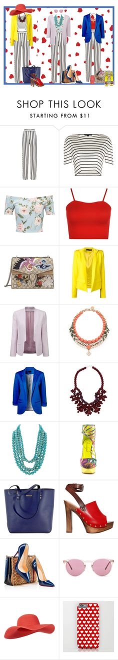 """Opciones"" by edeldiva ❤ liked on Polyvore featuring Nicholas, Alexander Wang, Miss Selfridge, WearAll, Gucci, Alexandre Vauthier, French Connection, Ellen Conde, Ek Thongprasert and Humble Chic"