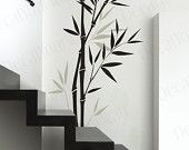 Bamboo vinyl wall decal