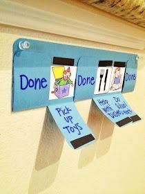 Simple kid's chore chart