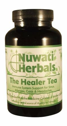 Nuwati Herbals The Healer Tea, 4 Ounces. Cold? Flu? Allergies? Here's some all natural help for your sinuses. It has a spicy flavor, so add milk and honey and it will taste like chai. My recommendation: Shake, Sniff and then Drink.