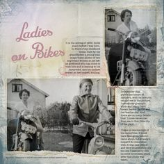 Remembering Mother and Granny, on the anniversary of mother passing away. Photos by my father, taken in Resources by Anna Aspnes: - frame. Ladies on Bikes