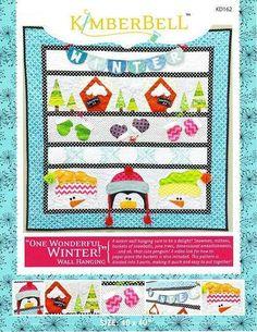 "One Wonderful Winter Wall Hanging Pattern Kimberbell 40"" x 40"" snowmen penguin"