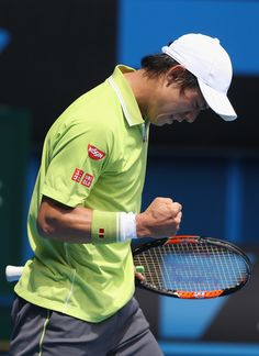 Kei Nishikori Photos - Australian Open: Day 2 - Zimbio