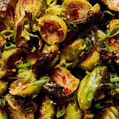 Roasted Brussels Sprouts with Warm Honey Glaze Recipe | Epicurious Recipe | Epicurious Crispy Brussel Sprouts, Roasted Sprouts, Brussels Sprouts, Roasted Vegetable Recipes, Roasted Vegetables, Veggies, Veggie Food, Veggie Recipes, Keto Recipes