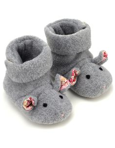 Baby Mouse Slipper Boot | Grey | Monsoon