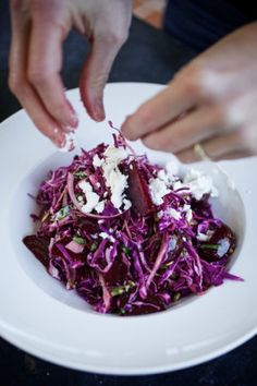 I love Show + Telling yummy new salad recipes with you guys – and here is another winner!      What you'll need: For the beets: 1 bunch beets, trimmed and scrubbed 2-3 fresh thyme or rosemary sprigs (both if you like!) 1/2 tsp of salt Drizzle of olive oil  [...]