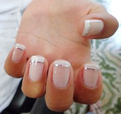 Easy To Do Polka Dot Manicure Polka dot manicures with glitter are a classic look you can do on short nails at home. nails nails,manicure nails,nail designs for short nails 2018 Colorful Nail Designs, Nail Art Designs, Cute Nails, Pretty Nails, Classy Nails, Elegant Nails, French Manicure Nails, French Manicure Designs, French Tip Gel Nails