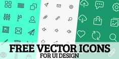 300+ Free Vector Icons for UI Design. #icons #vectors