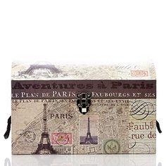 Paris Noir Theme Dome Box- Large World Travel Decor, Plan Paris, Trunks And Chests, Plans, Storage Boxes, Rue, Vintage World Maps, Coastal, Kids Room