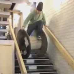 We're Giving You Animals What You Want: 22 GIFs of People Falling Down Stairs