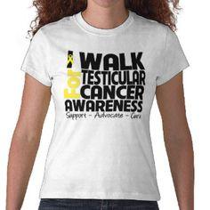 Eu ando para a consciência do cancer Testicular T-shirts