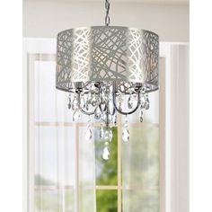 Light up your home with this chrome chandelier that is sure to add a dazzling touch your dining room or any room that needs an elegant touch. The sturdy iron frame makes this crystal chandelier durabl