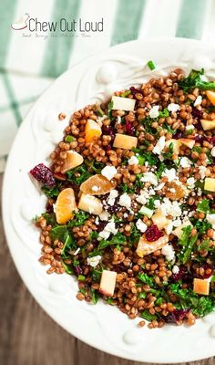 Wheat Berry Salad with Apples and Cranberries #wheatberry #wheat #wheatlovers #wheatgrass #wheatberries #farming #healthy #homegrown #Farm #wheatrecipes #food #foodie #healthylifestyle #healthyeating Best Apple Recipes, Apple Crisp Recipes, Whole Food Recipes, Wheat Berry Recipes, Wheat Berry Salad, Healthy Grains, Healthy Dishes, Healthy Eating, Quinoa Sweet Potato