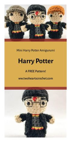 Crochet Harry Potter Doll Pattern  |  Harry Potter Pattern|  HP Amigurumi  |  Crochet Harry Potter Pattern  |  The Boy Who Lived Crochet  |  Mini Amigurumi  |  Crochet Dolls