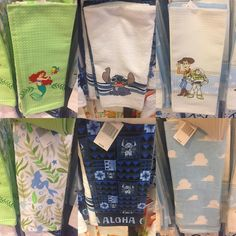 New Disney kitchen towels from Disney Parks #disney #toystory #woody #buzzlightyear #liloandstitch #stitch #ariel #thelittlemermaid #littlemermaid #disneyhome #disneyhomedecor #disneykitchen
