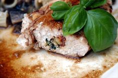 Sun-Dried Tomato, Pine Nuts and Basil Stuffed Chicken Breasts