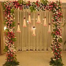 Jute N Exotic Flowers Decoration | Gift Jute N Exotic Flowers Decoration - Ferns N Petals