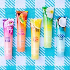 Bath & Body Works cooling gel lotions! Perfect after a long day in the Florida sunshine! Stop at Miromar Outlets to purchase yours! #MiromarOutlets #BathAndBodyWorks
