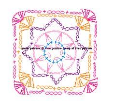 bloemen haken crochet flowers 031.gif (456×448)