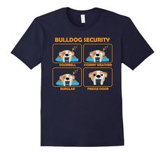 Men's English Bulldog shirt | Bulldog Security XL Navy