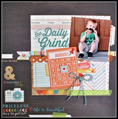 Simple Stories Daily Grind Layouts