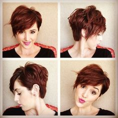 Today we have the most stylish 86 Cute Short Pixie Haircuts. We claim that you have never seen such elegant and eye-catching short hairstyles before. Pixie haircut, of course, offers a lot of options for the hair of the ladies'… Continue Reading → Haircuts For Fine Hair, Short Pixie Haircuts, Pixie Hairstyles, Red Pixie Haircut, Medium Hairstyles, Trendy Hairstyles, Hairstyles 2018, Braided Hairstyles, Short Wavy Hair