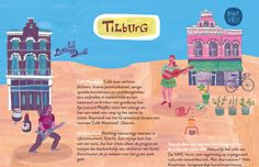 Detail of illustration by Marjolein Schalk for MEST Magazine #8; hotspots Little Devil and Buutvrij in Tilburg.