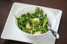 Arugula Salad with Pear and Blue Cheese (via www.ingoodtastemag.com)