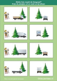 Which photo is the photographer 2 kleuteridee.nl, cognitive development and spatial awareness for children, free printable. Christmas Activities For Kids, Math For Kids, Toddler Activities, Speech Language Therapy, Speech And Language, Perspective Game, Funny Would You Rather, Winter Christmas, Xmas