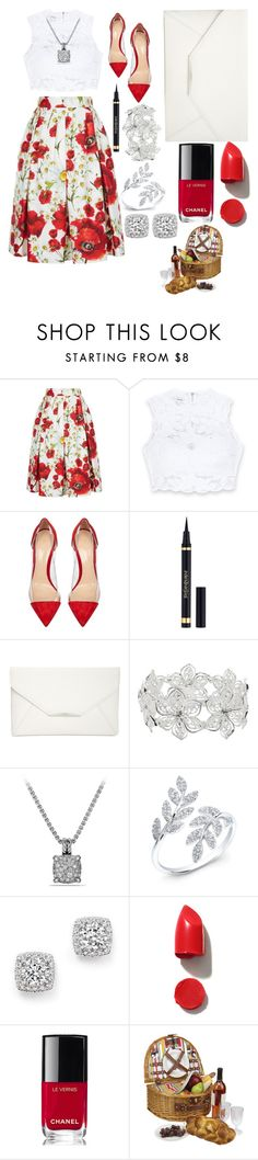 """Untitled #39"" by themakeupofbeauty on Polyvore featuring Dolce&Gabbana, Bebe, Gianvito Rossi, Yves Saint Laurent, Style & Co., M&Co, David Yurman, Bloomingdale's, NARS Cosmetics and Chanel"