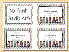 Speech Peeps: No Print Bundle Pack! Pinned by SOS Inc. Resources. Follow all our boards at pinterest.com/sostherapy for therapy resources.