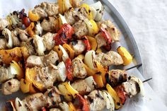 Welcome to your new family favorite recipe of the summer: Lemon Pepper Chicken Kabobs with Soda Pop Marinade!