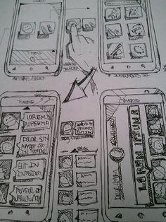 Sketches, Layouts & Wireframes by Jorge Alberto Machado Colon, via Behance