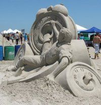 Attend the T E X A S - S A N D F E S T - Port Aransas Texas - Sand Sculpting Festival