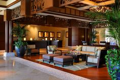 The lobby of the Westin Ka'anapali Ocean Resort Villas