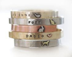Pet Cuff / Animal Cuff / Animal Memorial Cuff / Pet Lovers Jewelry / Animal Lovers Bracelet / Animal Bracelet /Pet Memorial Gift/Spring 2016 by amywaltz #TrendingEtsy