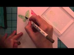 awesome watercolor technique video using distress and crayola markers