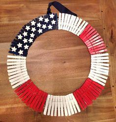 4th of July Wreath, Patriotic American Flag Home Decor via Etsy