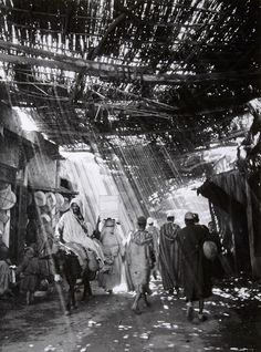 In the Souks of Marrakech, Morocco — Franc Shor, ca 1954
