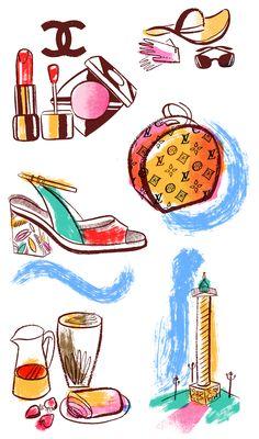 Sarah Tanat-Jones. Luxury Paris destinations. For Vanity Fair France. Sarahtanatjones.com