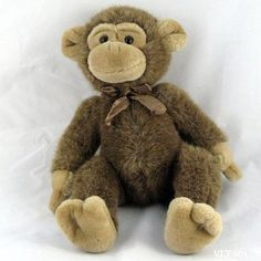 6cac0bc57dd Russ Jimby monkey chimpanzee ape brown exotic animal plush stuffed Beanbag  14