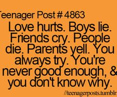 So true always try never good enough that's why I'm left crying tying at night wondering what haven't I dine right . Crush Quotes, Mood Quotes, Life Quotes, Funny Teen Posts, Relatable Posts, Never Good Enough, Teenager Quotes, Teenager Posts Parents, Sad Teen Quotes